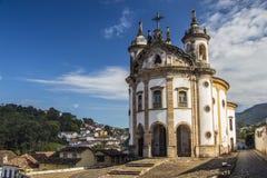 Το Nossa Senhora κάνει την εκκλησία Rosà ¡ Ρίο - Ouro Preto - Minas Gerais - Βραζιλία Στοκ εικόνα με δικαίωμα ελεύθερης χρήσης