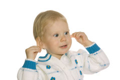 το(null) κορίτσι το ίδιο αυτιώ& Στοκ Εικόνα
