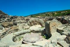 Το nuraghi Barumini στη Σαρδηνία Ιταλία στοκ φωτογραφίες