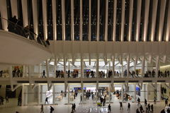 Το Oculus της πλήμνης μεταφορών Westfield World Trade Center στη Νέα Υόρκη στοκ εικόνες με δικαίωμα ελεύθερης χρήσης