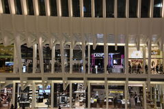 Το Oculus της πλήμνης μεταφορών Westfield World Trade Center στη Νέα Υόρκη Στοκ φωτογραφίες με δικαίωμα ελεύθερης χρήσης