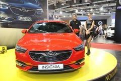 Το Opel στο αυτοκίνητο Βελιγραδι'ου παρουσιάζει Στοκ Φωτογραφίες