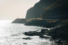 Το Pacific Coast, που βλέπει σε Malibu, Καλιφόρνια Στοκ εικόνα με δικαίωμα ελεύθερης χρήσης