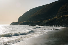 Το Pacific Coast, που βλέπει σε Malibu, Καλιφόρνια Στοκ φωτογραφία με δικαίωμα ελεύθερης χρήσης