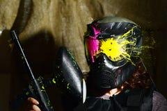 Το Paintball χτύπησε την παγωμένη στιγμή Στοκ Εικόνα