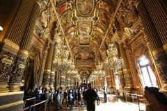 Το Palais Garnier, όπερα του Παρισιού, εσωτερικό και λεπτομέρειες Στοκ Φωτογραφία