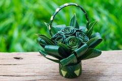 Το Pandan είναι διακοσμημένο όπως ένα λουλούδι που τακτοποιείται σε ένα καλάθι Στοκ φωτογραφίες με δικαίωμα ελεύθερης χρήσης
