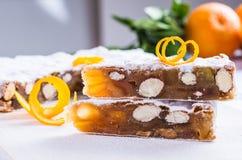 Το Panforte ή το κέικ Χριστουγέννων ψωμιού Στοκ φωτογραφία με δικαίωμα ελεύθερης χρήσης
