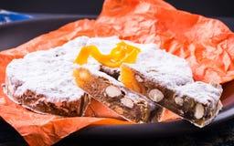 Το Panforte ή το κέικ Χριστουγέννων ψωμιού Στοκ Φωτογραφίες