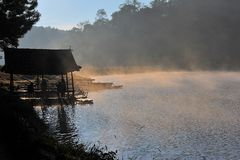 Το Pangoung είναι καλό ταξίδι στο maehongson Ταϊλάνδη Στοκ φωτογραφία με δικαίωμα ελεύθερης χρήσης
