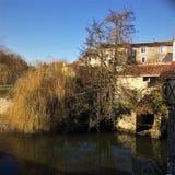 Το Parthenay είναι μια αρχαία ενισχυμένη πόλη στο τμήμα deux-Sèvres στη δυτική Γαλλία στοκ φωτογραφία