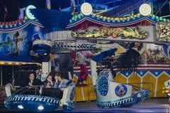 Το Passangers της μαγικής έλξης δύναμης στο φεστιβάλ λαών στο ST το 2018 στοκ εικόνα