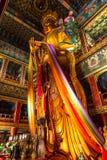 Το pavillon της ευτυχίας δέκα χιλιάδων στο ναό λάμα Yonghe στο Πεκίνο στοκ εικόνες