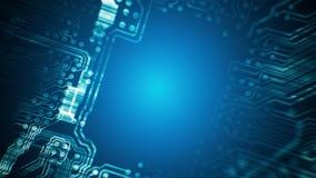 Το PCB τύπωσε τη σήραγγα πινάκων κυκλωμάτων που ζωντάνεψε τεχνολογία Loopable βακκινίων διανυσματική απεικόνιση