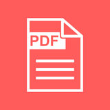 Το Pdf μεταφορτώνει το διανυσματικό εικονίδιο Στοκ Εικόνα