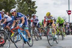 Το Peloton στη Βαρκελώνη - Tour de Catalunya 2016 Στοκ Εικόνες