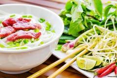 Το Pho BO είναι μια σούπα νουντλς βόειου κρέατος Δημοφιλή τρόφιμα οδών στο Βιετνάμ στοκ φωτογραφία με δικαίωμα ελεύθερης χρήσης