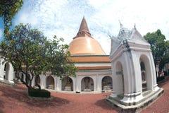 Το Phra Pathom Chedi είναι το ορόσημο της επαρχίας Nakhonpathom στο θόριο Στοκ φωτογραφία με δικαίωμα ελεύθερης χρήσης