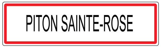 Το Piton Άγιος αυξήθηκε απεικόνιση σημαδιών κυκλοφορίας πόλεων στη Γαλλία Στοκ εικόνα με δικαίωμα ελεύθερης χρήσης