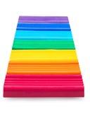 Το Plasticine έβαλε αντίστοιχα τα χρώματα ουράνιων τόξων στοκ φωτογραφία με δικαίωμα ελεύθερης χρήσης