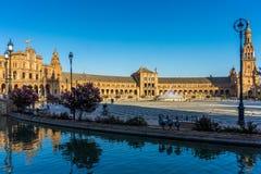 Το plaza de espana στη Σεβίλη, Ισπανία, Ευρώπη Στοκ εικόνα με δικαίωμα ελεύθερης χρήσης