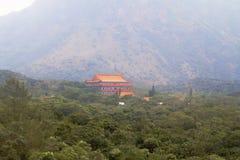 Το po Lin μοναστήρι στο νησί Lantau Χογκ Κογκ Στοκ Εικόνα