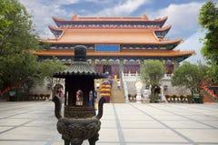 Το po Lin μοναστήρι στο νησί Lantau Χογκ Κογκ Στοκ Εικόνες