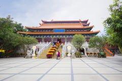 Το po Lin μοναστήρι στο νησί Lantau Χογκ Κογκ Στοκ εικόνες με δικαίωμα ελεύθερης χρήσης