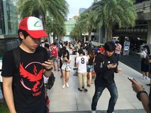 Το Pokemon πηγαίνει στη Μπανγκόκ στοκ φωτογραφία