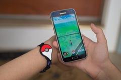 Το Pokemon πηγαίνει συν Στοκ Εικόνες