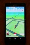 Το Pokemon πηγαίνει app Στοκ φωτογραφία με δικαίωμα ελεύθερης χρήσης