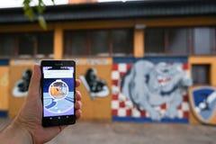 Το Pokemon πηγαίνει app Στοκ Εικόνα