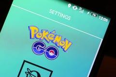 Το Pokemon πηγαίνει app Στοκ εικόνα με δικαίωμα ελεύθερης χρήσης
