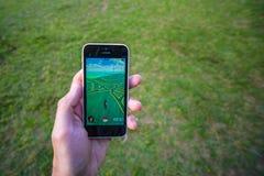 Το Pokemon πηγαίνει app στοκ εικόνες