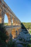 Το Pont-du-Gard είναι ένα παλαιό ρωμαϊκό υδραγωγείο κοντά στο Νιμ Στοκ φωτογραφίες με δικαίωμα ελεύθερης χρήσης