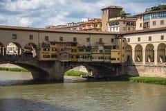 Το Ponte Vecchio, Φλωρεντία, Ιταλία Στοκ Φωτογραφίες
