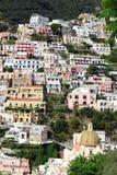 Το Positano στεγάζει vert Στοκ Εικόνες