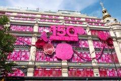 Το Printemps γιορτάζει 150 έτη Στοκ Εικόνα