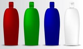 Το promo συλλογής προτύπων μπουκαλιών σαμπουάν αντιτίθεται σύνολο εμπορικών σημάτων Στοκ Φωτογραφία