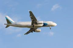 Το Pulkovo, ΠΕΡΙΟΧΗ της Αγία Πετρούπολης, της ΡΩΣΙΑΣ -26 μπορεί το 2017: Airbus A320 Στοκ φωτογραφίες με δικαίωμα ελεύθερης χρήσης