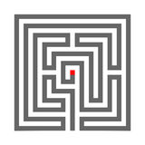 Το Quadrate το σύμβολο λαβύρινθων που απομονώνεται στο άσπρο υπόβαθρο Στοκ φωτογραφίες με δικαίωμα ελεύθερης χρήσης