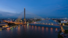 Το Rama VIII γέφυρα Στοκ Φωτογραφία