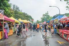 Το Ramadan Bazaar καθιερώνεται για μουσουλμάνο για να σπάσει γρήγορα κατά τη διάρκεια του ιερού μήνα Ramadan Στοκ εικόνες με δικαίωμα ελεύθερης χρήσης