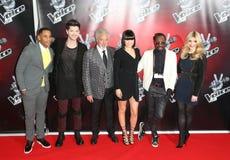 Το Reggie Yates, Danny Ο, Holly Willoughby, Jessie J, Jessie J., Τομ Τζόουνς, εγώ είναι. Ι. το AM. Ι. AM., will.i.am, Danny O'Dono στοκ φωτογραφία