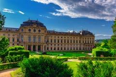 Το Residenz του Wurzburg, Γερμανία Στοκ εικόνα με δικαίωμα ελεύθερης χρήσης
