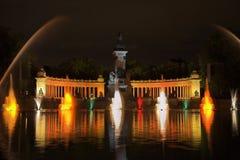 το retiro πάρκων της Μαδρίτης Στοκ Φωτογραφίες