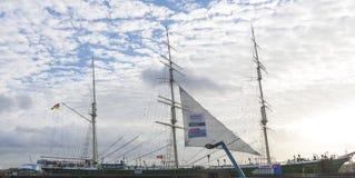 Το Rickmer Rickmers, ένα πλέοντας σκάφος - τρία η βάρκα Hamb Στοκ Φωτογραφίες