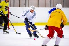 Το Rinkball είναι ένας αθλητισμός παρόμοιος με το χόκεϋ πάγου - ΚΥΡΙΟ ΆΡΘΡΟ στοκ εικόνες με δικαίωμα ελεύθερης χρήσης