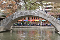 Το riverwalk του στο κέντρο της πόλης San Antonio Στοκ Εικόνες