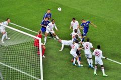 Το Rooney ήταν στο έδαφος κοντά στην πύλη Στοκ Εικόνες